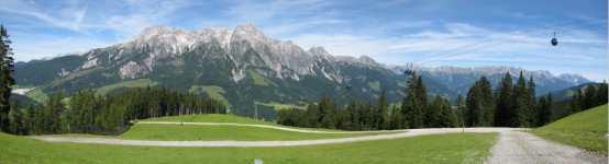 panorama protějšího hřebenu