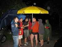 místo slunečníku deštník