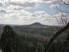 Šemická skála  pohled z Andělské hory